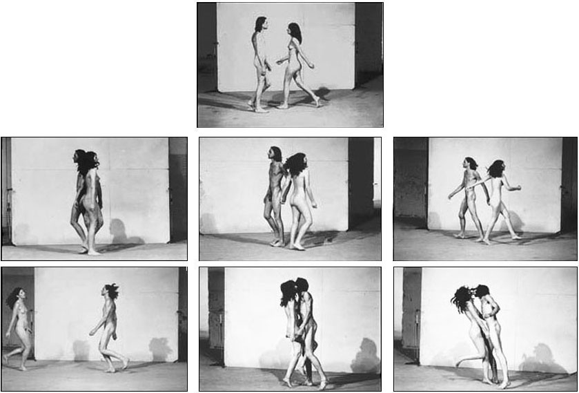 Marina ABRAMOVIC / ULAY: Relation in Space. Performance 1 at Venice Biennale, 1976