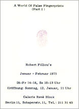 Robert FILLIOU: A World of False Fingerprints (Part I). 1975