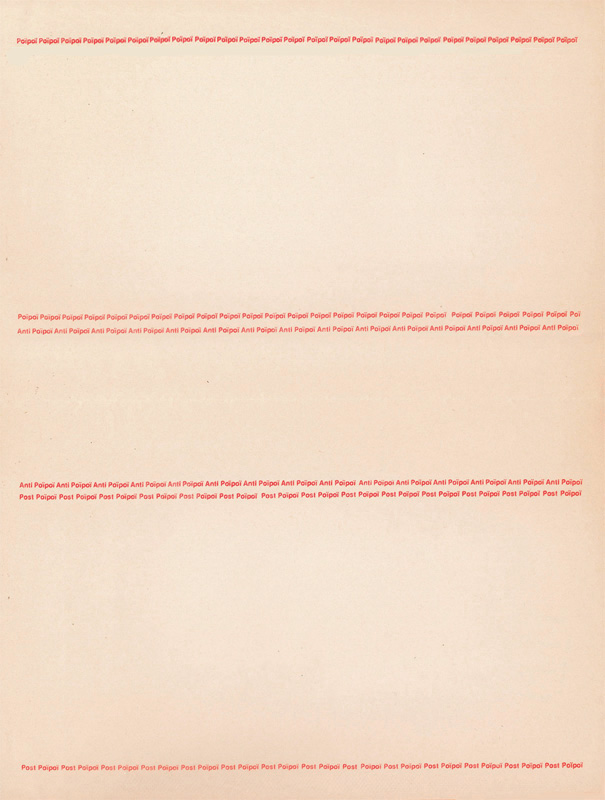 Robert FILLIOU: Poïpoï; Anti Poïpoï; Post Poïpoï. 1976