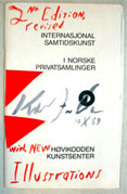 FRIEDMAN Ken 2nd Edition revised with new illustrations of Internasjional Samtidskunst I norske   Privatsamlinger, Hovikodden Kunstsenter Front cover
