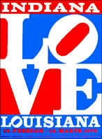 Robert INDIANA 1972. Louisiana, Humblebaek, Denmark. 1972. LOVE