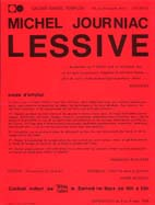 Michel JOURNIAC: Lessive. 1969
