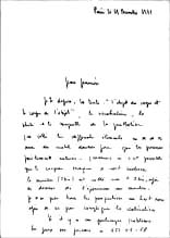 Michel JOURNIAC: To Jean-François (Bory). December 11, 1972
