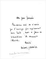 Michel JOURNIAC: Letter to Jean-François (Bory). January, 25, 1973