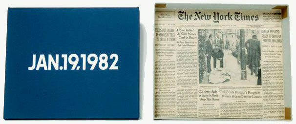 On KAWARA: JAN.19.1982. Today series n°4
