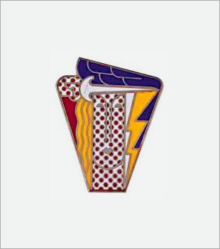 Roy LICHTENSTEIN: Modern Head Brooch. (1968)