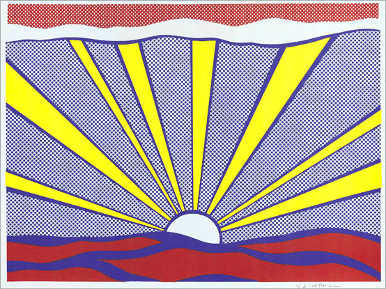 Roy LICHTENSTEIN: Sunrise. 1965