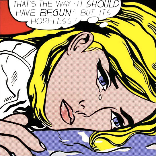Roy LICHTENSTEIN: THAT'S THE WAY - IT SHOUD HAVE BEGUN! BUT IT'S HOPELESS 1968