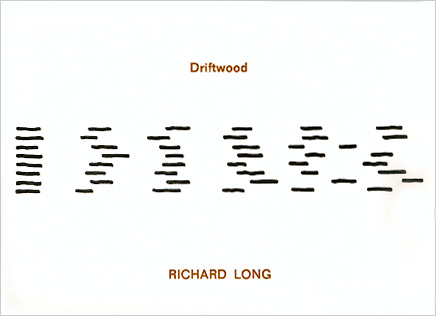 Richard LONG: Driftwood. 1975