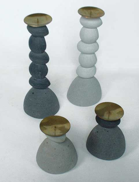 "MIGEON et MIGEON: Candlesticks ""Galets"""