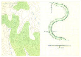Robert MORRIS: Wall and Ditch. (Plate #X of the portfolio Earth Projects)