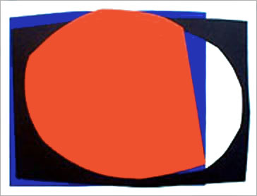 Gina Pane Intemporelle II. 1970. Lithograph in colors