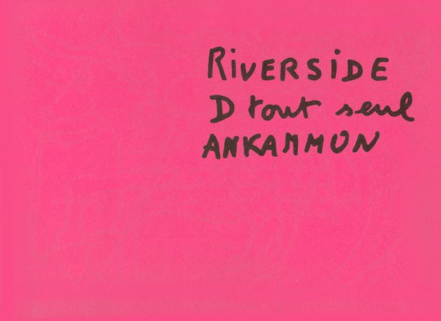 Martial RAYSSE Riverside D tout seul Ankammon Front cover