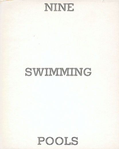 Ed Ruscha Nine Swimming Pools And A Broken Glass Sumally