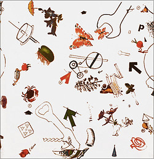 "Jean TINGUELY Vive la Liberté. 1972 From the artist wallpaper collection ""XARTWALLS"""