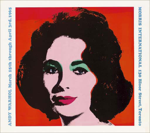 Andy WARHOL: Liz. Morris International, Toronto Poster, 1964